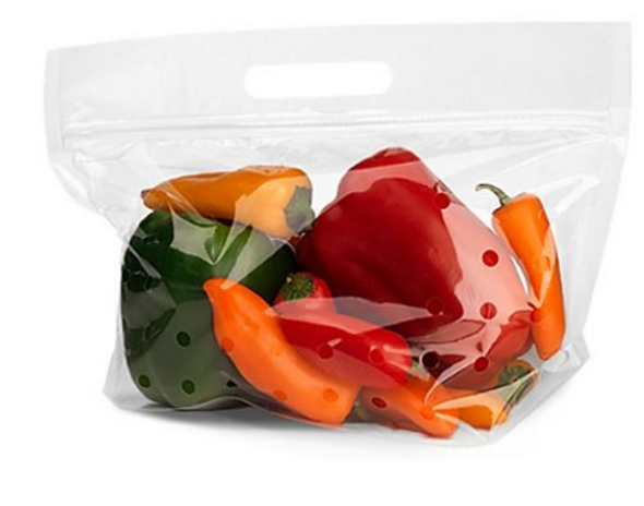 10 x 9 in. Clear Vented Zip Produce Pouch