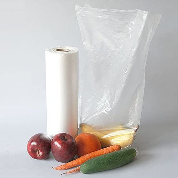 "12 x 20"" 1.1 MIL Clear Roll Bags"