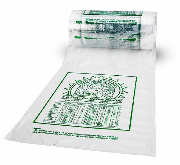 "12 x 20"" HDPE Printed Roll Bags"