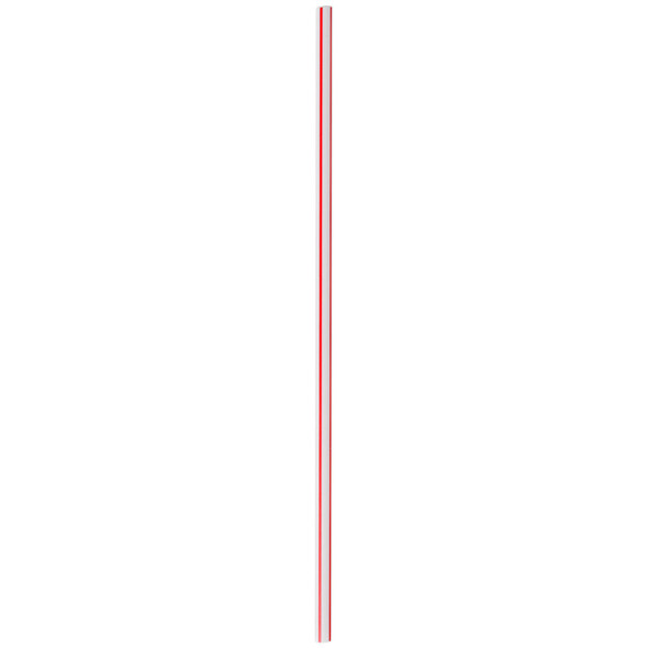 """5"""" Red/White Unwrapped Coffee Stirrer Straws (US52RS-10)"""
