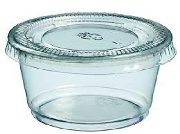 PC345L Lid for 3.25-4 Oz. Clear Walco Portion Cups