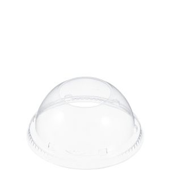 """20LCDH Clear Plastic Dome Lid W/ 1.9"""" Hole"""