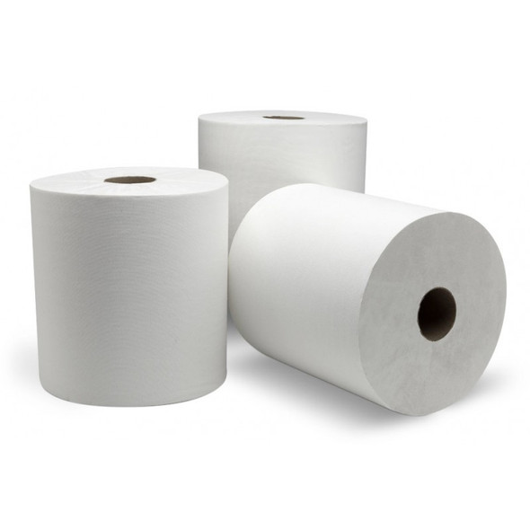 "30500 Response 7.75"" x 600' White Roll Towel 2"" Core"