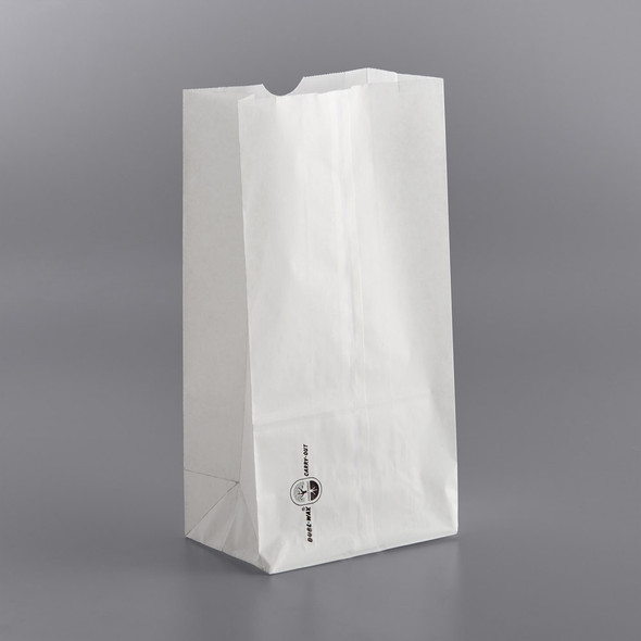 12# Plain White Double Waxed Bags