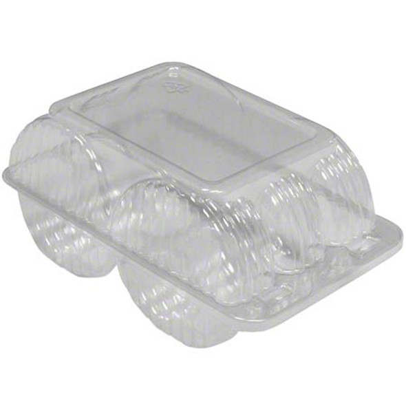 LBH-5306 6 Count Doughnut Plastic Hinged Containers