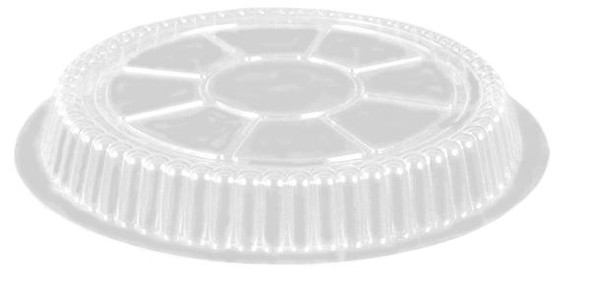 "2046DL-500 Plastic Dome Lid for 9"" Foil Pan"