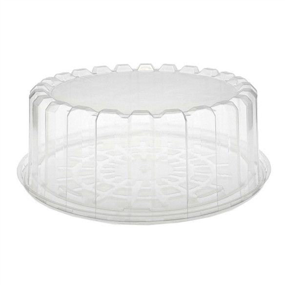 """YCI89820 8"""" Shallow Clear Plastic Cake Container"""