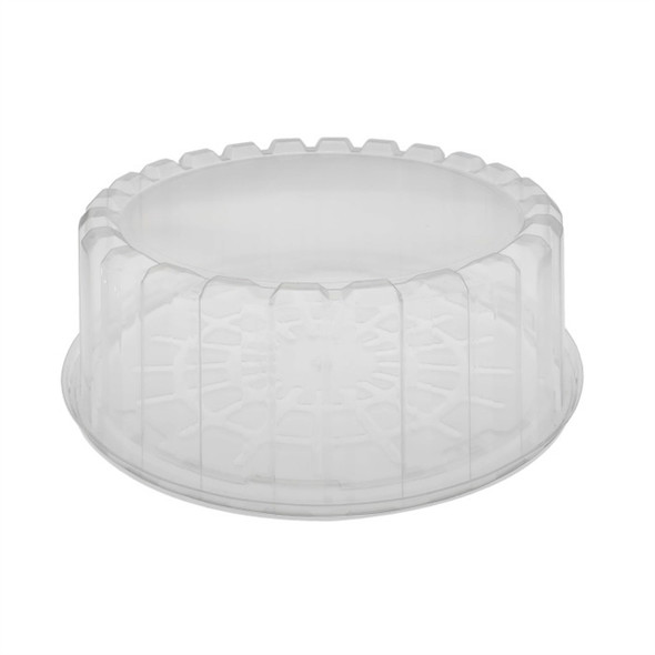 """9"""" Clear Plastic Cake Container W/ Shallow Dome Lid"""
