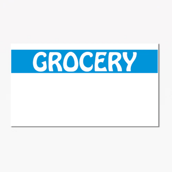 1131 Monarch White/Blue Grocery Label
