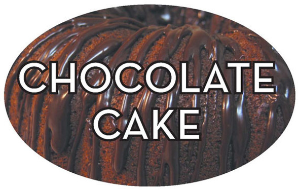 1.25*2 Chocolate Cake Flavor Label 13539