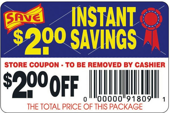 Instant Savings $0.50 Off Label 11005