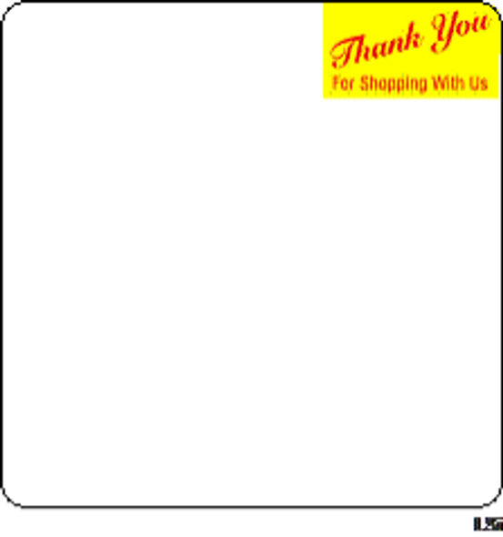 Toledo Scale Label 8442 2.4 W/ Red/Yellow Thank You