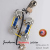 SG Wiring Harness Custom Prewired JEL 525k CTS SHORT Shaft  .022uF SOZO Blue Next Gen Caps