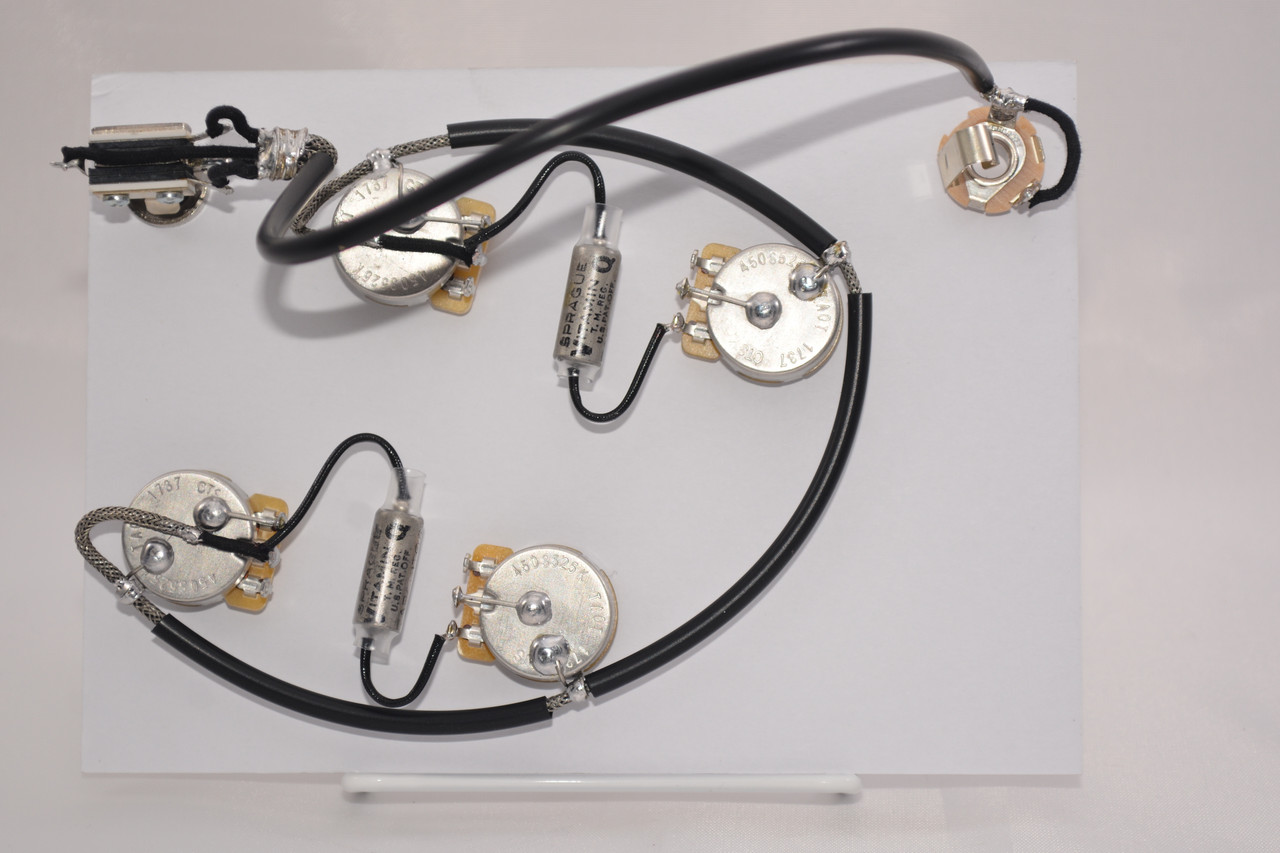 ES335 Wiring Harness for Epiphone for Dot or Sheraton 500k Vitamin Q .022uf Caps