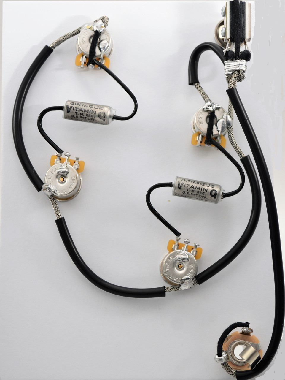 ES335 Wiring Harness for Epiphone for Dot or Sheraton 500k Vitamin Q .022uf  Capacitors