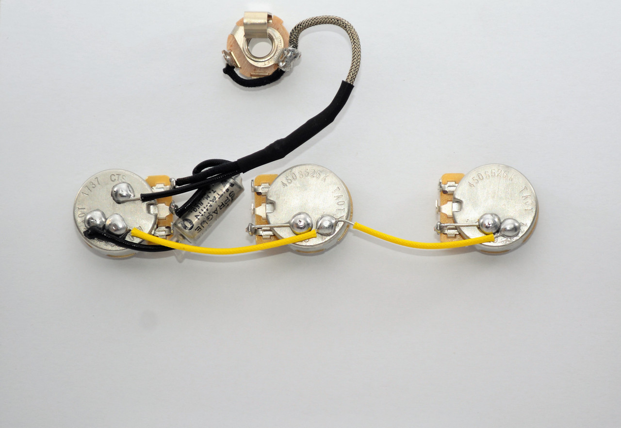 [DIAGRAM_38EU]  Gibson Explorer Wiring Harness 525k CTS Short Shaft Vitamin Q . Capacitors | Gibson Wiring Harness |  | Jackson Electronic Luthier