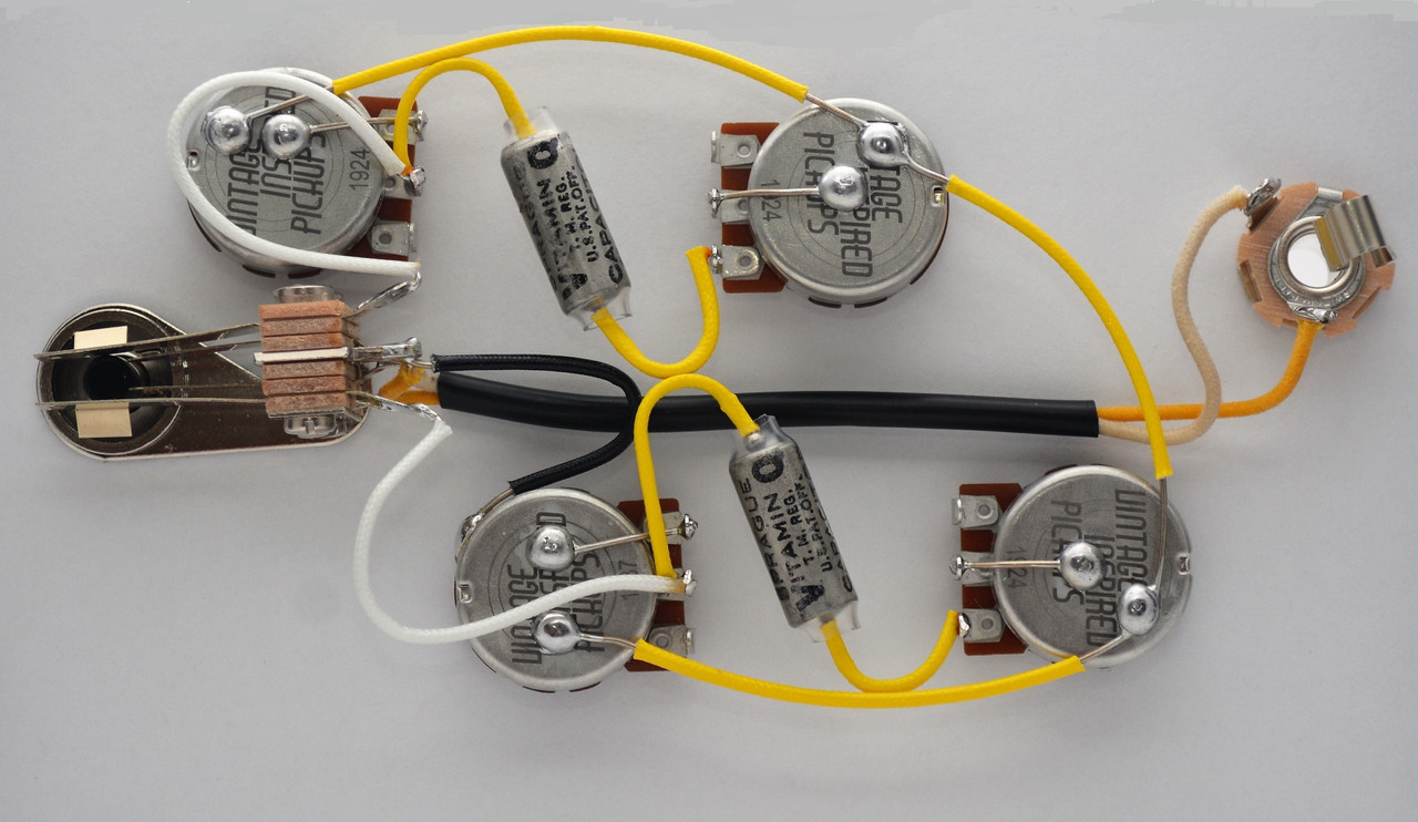 [NRIO_4796]   Gibson L5S Wiring Harness 550k CTS Short Shaft Vitamin Q . Capacitors | Gibson Wiring Harness |  | Jackson Electronic Luthier