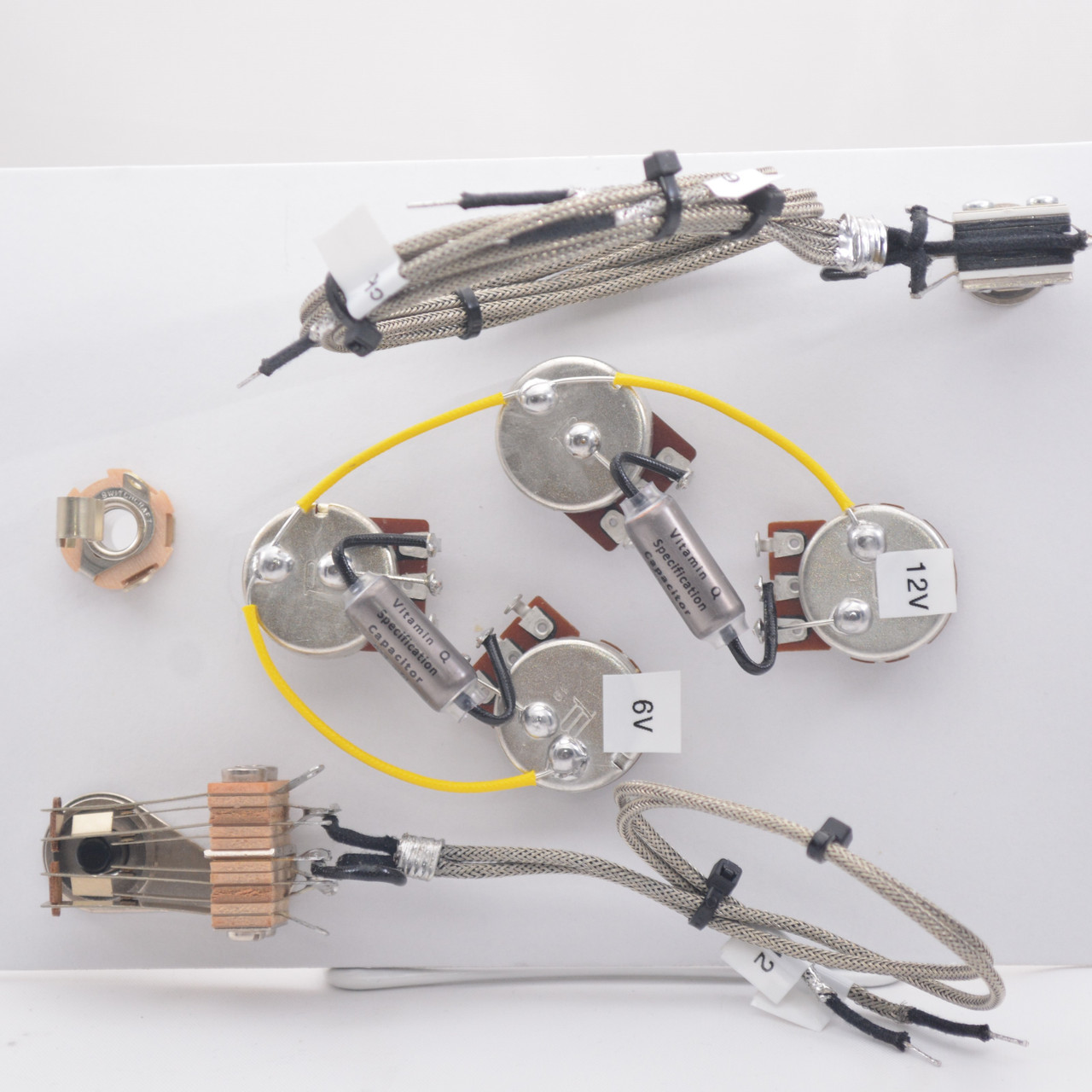 es335 wiring harness for epiphone for dot or sheraton 500k vitamin q .022uf  capacitors  jackson electronic luthier