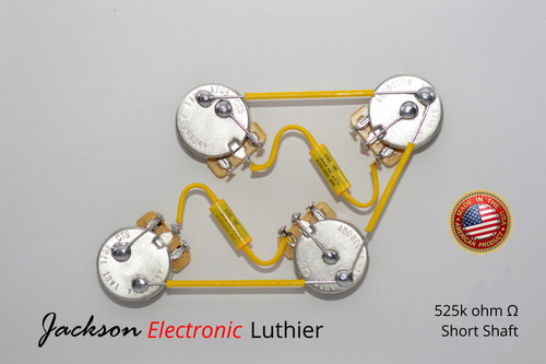 Les Paul ® Type Wiring Harness 50s Style Wiring Harness Mallory 150 .022uF 630VDC Caps5% Tolerance