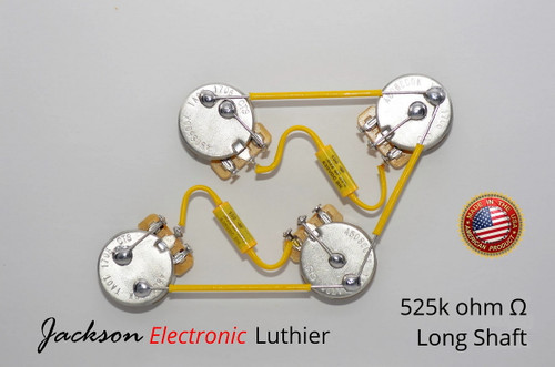 Les Paul ® Type Wiring Harness 50s Style Wiring Harness CTS 525k LONG Mallory 150 .022uF 630VDC Caps 5% Tolerance