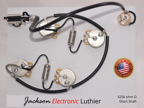 ES335 Wiring Harness  CTS 525k Rare .022 uF Vitamin Q PIO Capacitors