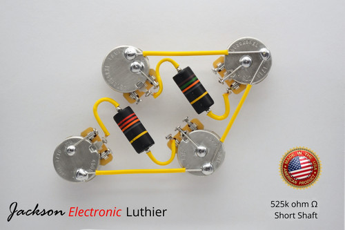 Les Paul® Type Wiring Harness 50s Style Wiring Harness Emerson® Bumblebee PIO .022uF Caps CTS TAOT 525k Short