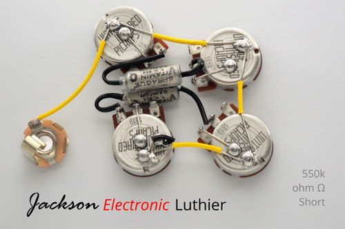 Gibson Firebird Wiring Harness 550k VIPots Centralab Spec Vitamin Q PIO .022uF Capacitors