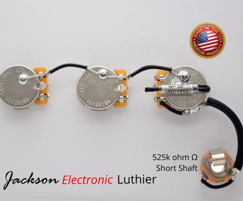 PRS SE Bernie Marsden Wiring Harness CTS 525k Potentiometers .022uF PIO Capacitor Switchcraft Jack