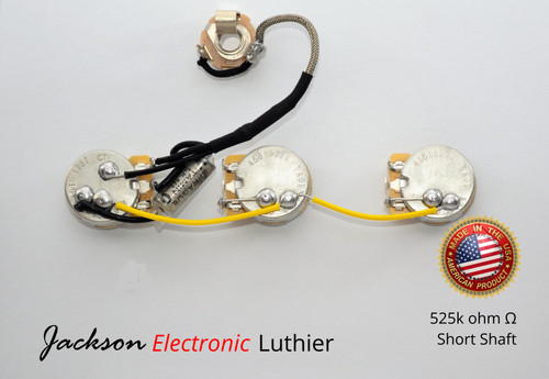 Gibson Explorer  Wiring Harness 525k CTS Short Shaft Vitamin Q . Capacitors
