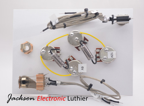 EDS 1275 Wiring Harness Gibson or  Epiphone 2 300k Linear Vol Pots 2 500k A Tone Pots Vitamin Q Spec Capacitors