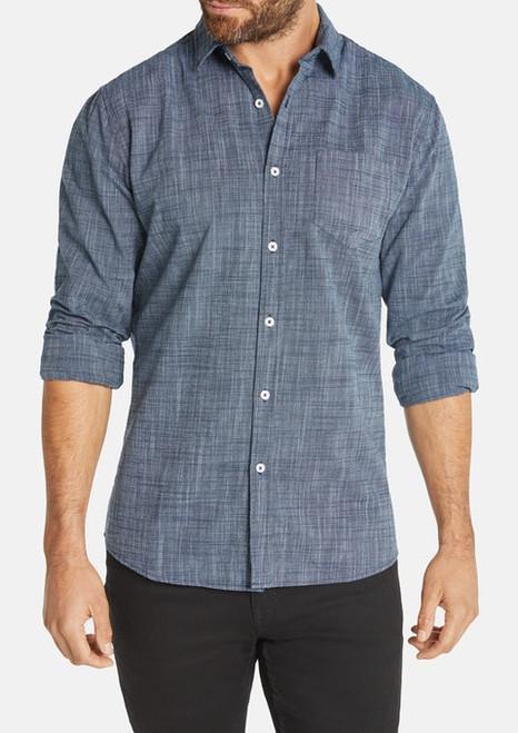 Clancy Casual Slim Shirt - Denim