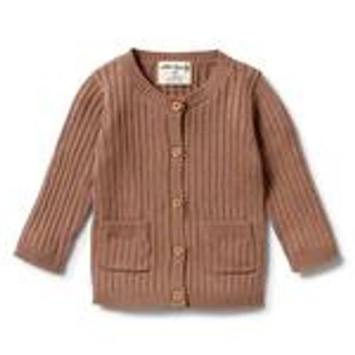 Knitted Rib Cardigan