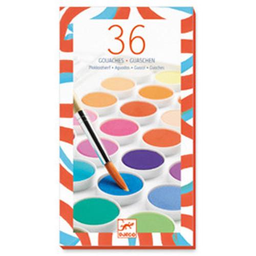 36 Gouache Colour Paints