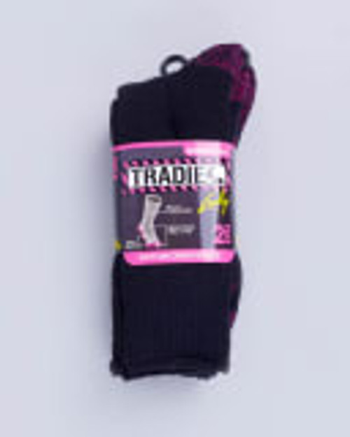 Tradie Lady 2pk Cotton Crew Socks