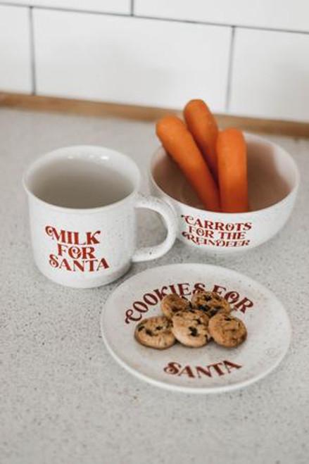 Santa's cookies Ceramic Set