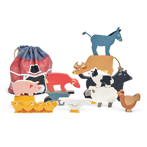 Stacking Farmyard Animals with Bag