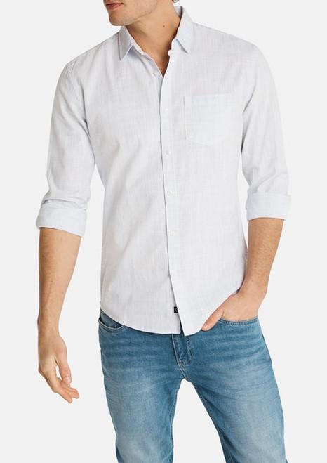 Clancy Casual Slim Shirt - Ice