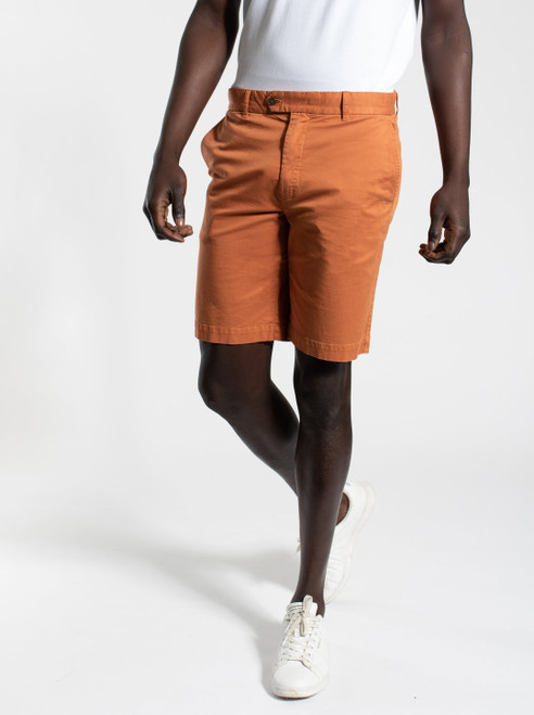 Cotton Spandex Shorts - Red Dust