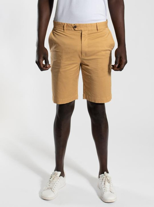Cotton Spandex Shorts - Curry