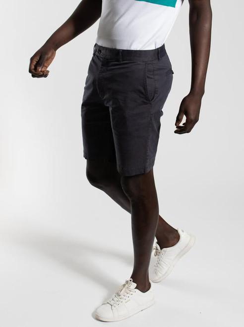 Cotton Spandex Shorts - Navy