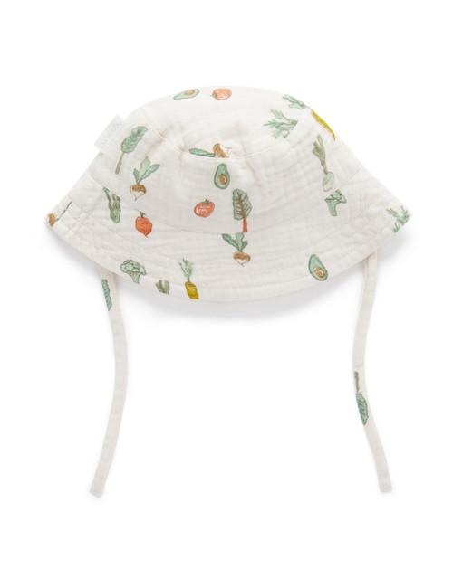 Salad Print Sun Hat