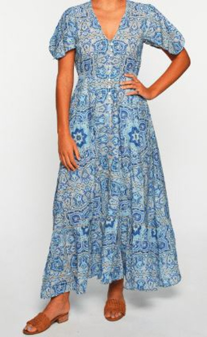 Savelle Maxi Dress in Fess
