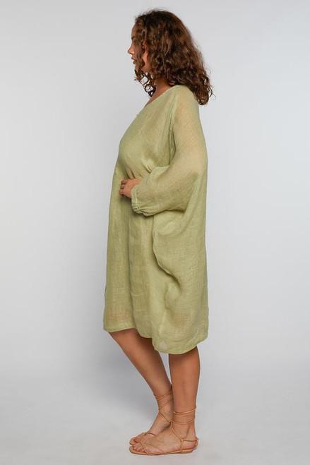 Cherie Linen Dress - Olive