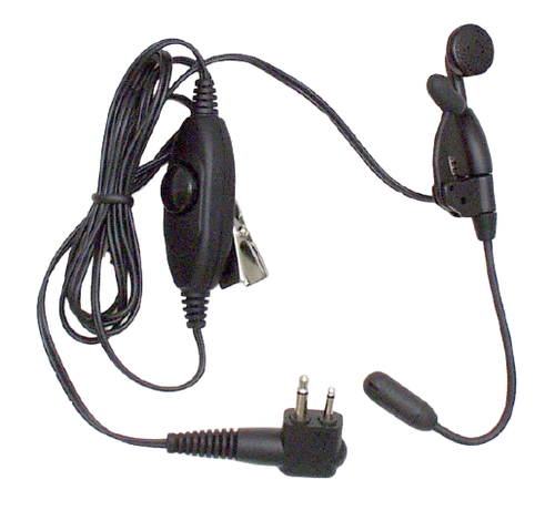 Ultra-Light Earpiece with Boom Microphone and In-Line PTT | CommTech, LLC