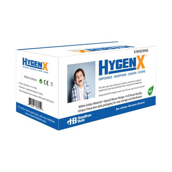 """HygenX NatureWeave 100% Biodegradable Disposable Ear Cushion Covers (2.5"""" White, 50 Pairs) - For On-Ear Headphones & Headsets"""
