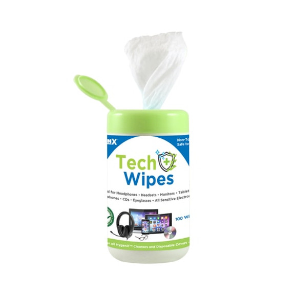 Pre-moistened wipes come in a convenient flip-top cap canister.