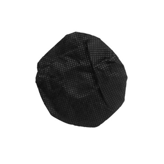 """HygenX™ Sanitary, Disposable 4.5"""" Deluxe-Sized Ear Cushion Covers for Headphones and Headsets,  50 Pairs – BLACK"""