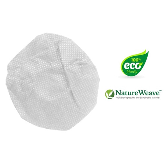 "HygenX NatureWeave 100% Biodegradable Sanitary Ear Cushion Covers (4.5"" White, 50 Pairs) - For Over-Ear Headphones & Headsets"