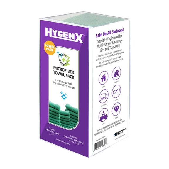 HygenX™ Microfiber Towels – Pack of 20