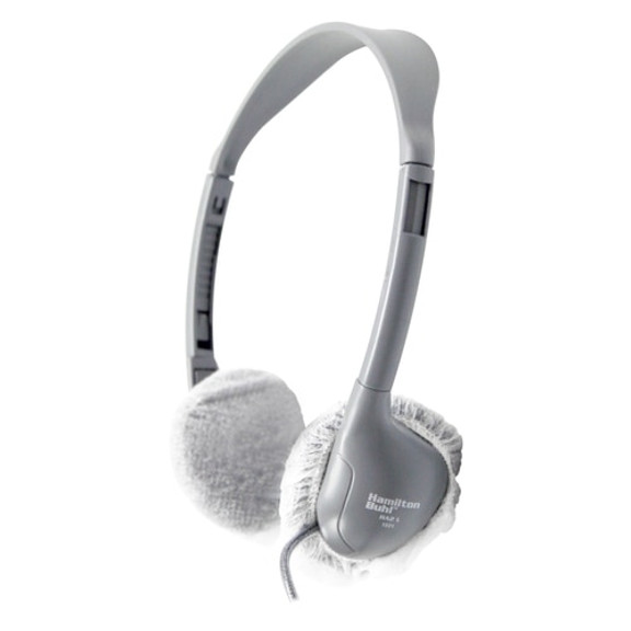 """HygenX™ Sanitary, Disposable Personal-Sized 2.5""""  Ear Cushion Covers for Headphones & Headsets – 50 Pairs – WHITE"""